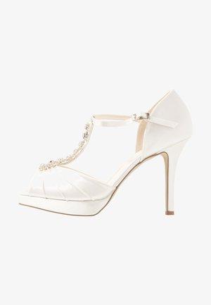 CINDY - Peeptoe heels - ivory