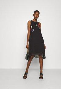 Desigual - VEST ROMA - Cocktail dress / Party dress - black - 1