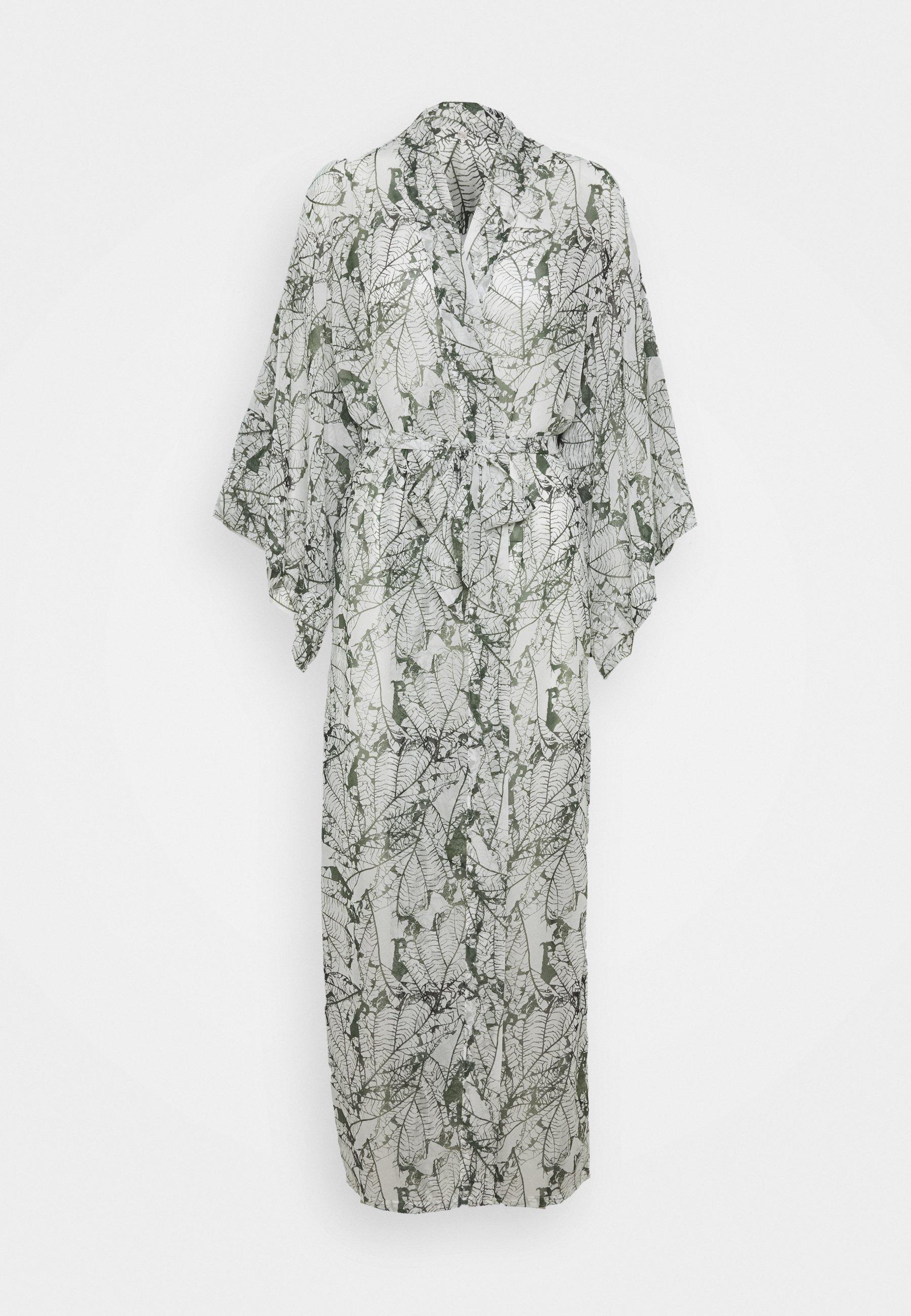 Women KIMONO LONG LEAF - Dressing gown