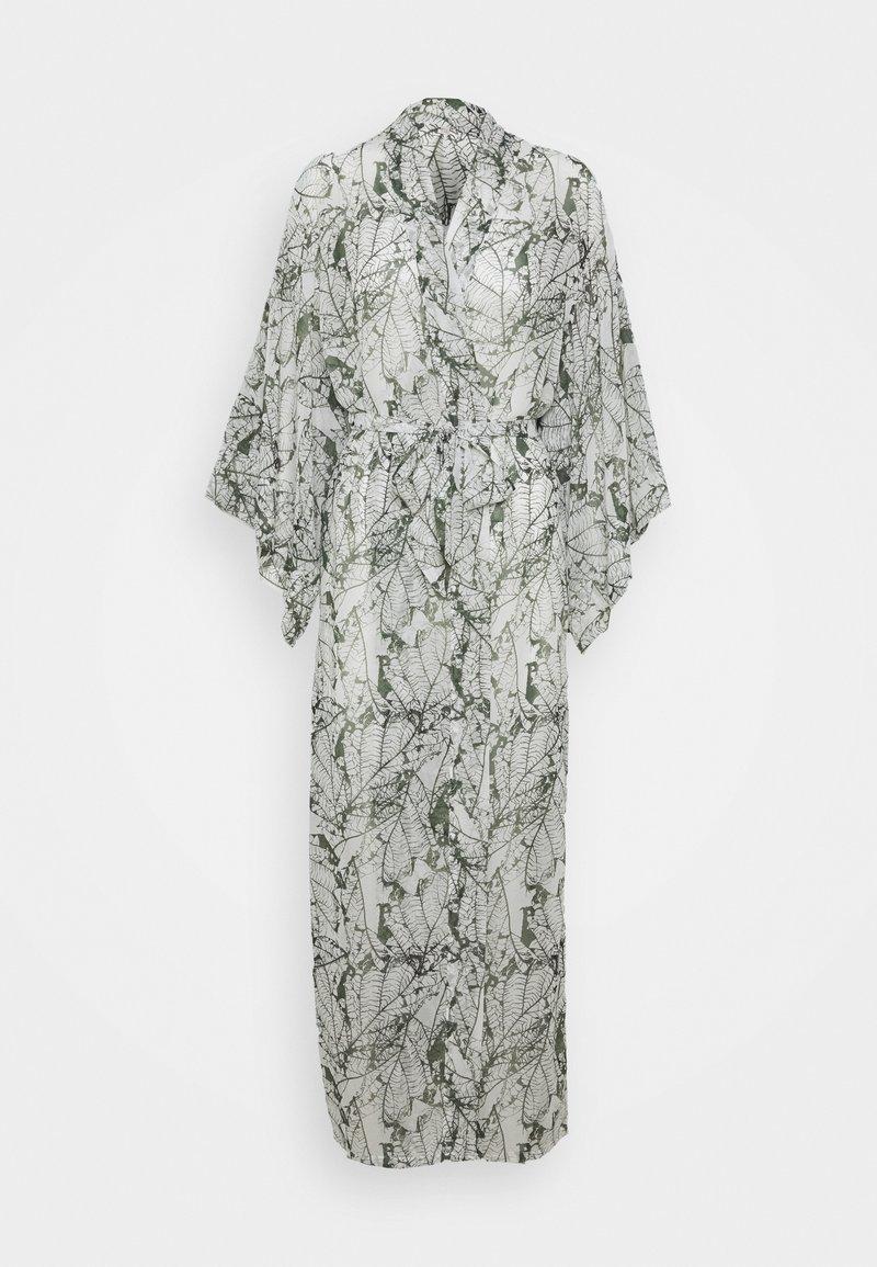 Hunkemöller - KIMONO LONG LEAF - Dressing gown - climbing ivy