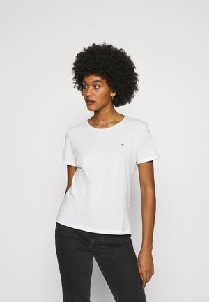 SLIM CNECK - Basic T-shirt - white