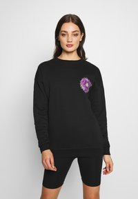Merchcode - LADIES PYCHADELIC MANDALA CREWNECK - Sweater - black - 0