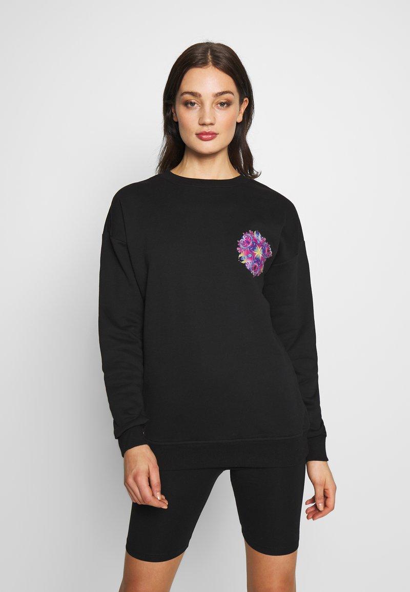Merchcode - LADIES PYCHADELIC MANDALA CREWNECK - Sweater - black