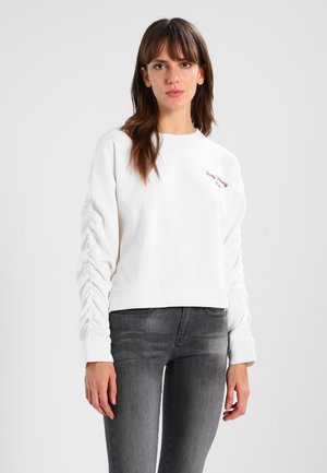 EMBROIDERY  - Sweatshirt - antique white
