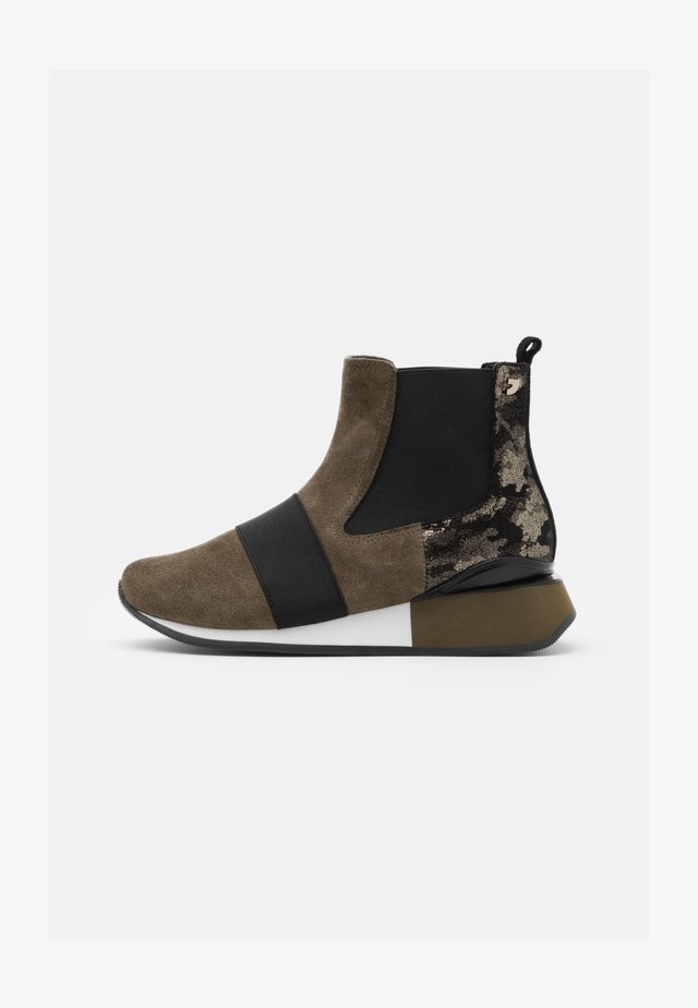 SPUTINO - Wedge Ankle Boots - verde