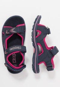 Kappa - SHIPLAKE - Sandales de randonnée - navy/pink - 0