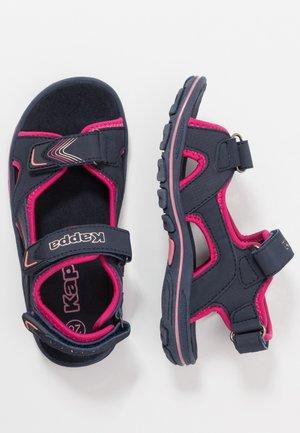 SHIPLAKE - Walking sandals - navy/pink