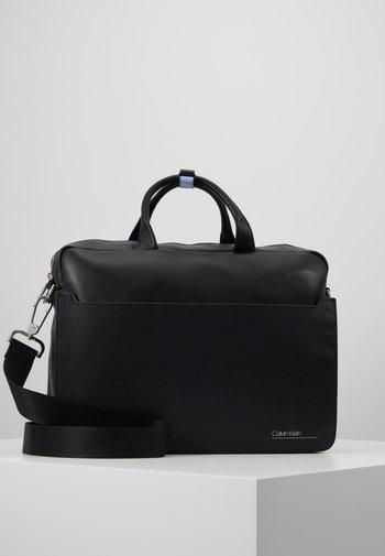 SLIVERED LAPTOP BAG - Laptop bag - black