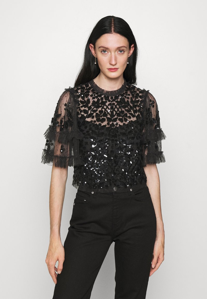 Needle & Thread - AURELIA EXCLUSIVE - Print T-shirt - black