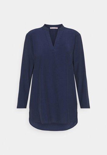 Basic V neck Blouse - Blouse - dark blue