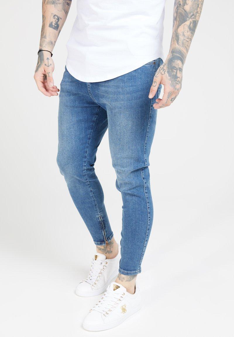 SIKSILK - Trousers - midstone blue