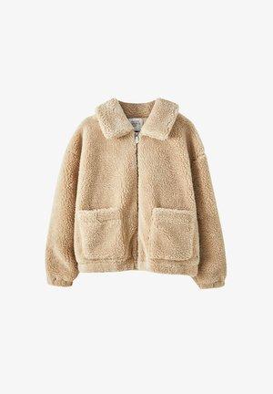 Fleece jacket - camel