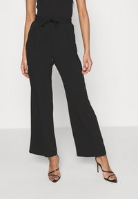 Miss Selfridge - SMART WIDE LEG - Kalhoty - black - 0