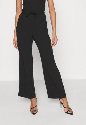 SMART WIDE LEG - Spodnie materiałowe - black