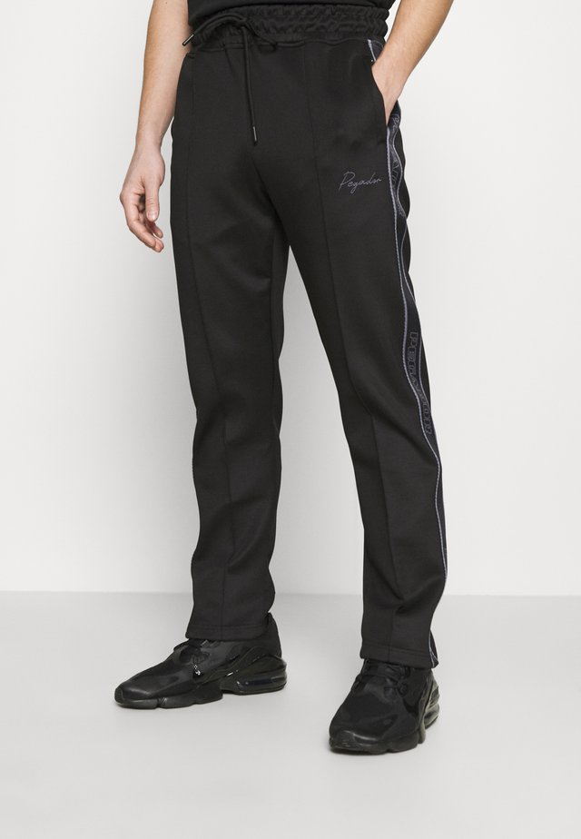WIDE TRACKPANTS UNISEX - Pantaloni sportivi - black/gray