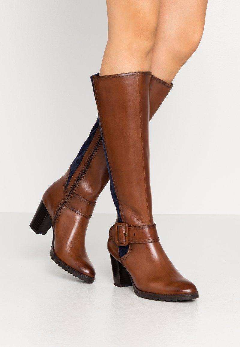 Caprice - Vysoká obuv - cognac