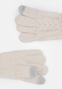 GAP - CABLE UNISEX - Gloves - soft ivory - 1