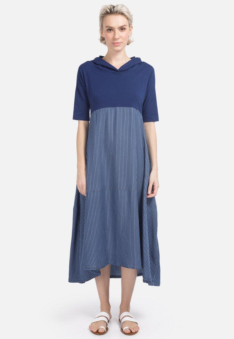 HELMIDGE - Day dress - schmalband blau