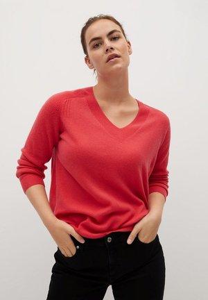 CASHLINI - Sweter - erdbeerrot