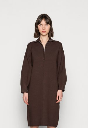 TALLI ZIPPER DRESS - Day dress - coffee bean