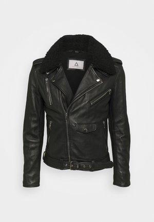 STYLE MOUTON - Leather jacket - black