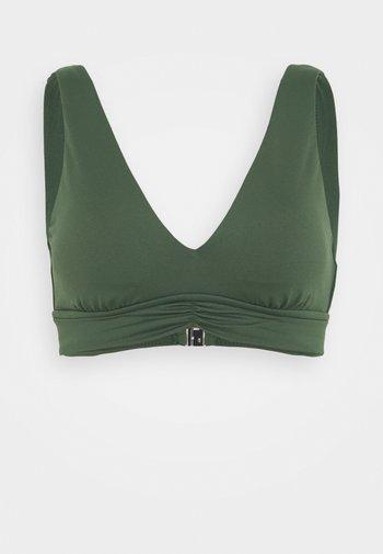 V NECK CROP - Bikini top - ivy