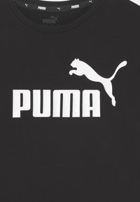 Puma - LOGO TEE UNISEX - Print T-shirt - black - 2