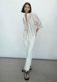 Massimo Dutti - Button-down blouse - beige - 2