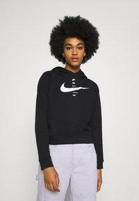 Nike Sportswear - HOODIE - Kapuzenpullover - black/white - 0