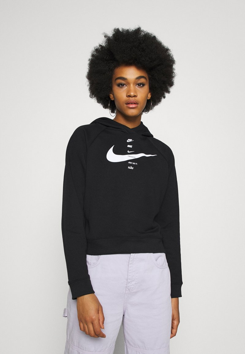 Nike Sportswear - HOODIE - Kapuzenpullover - black/white