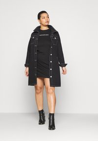 Calvin Klein Jeans Plus - INSTITUTIONAL DRESS - Jersey dress - black - 1