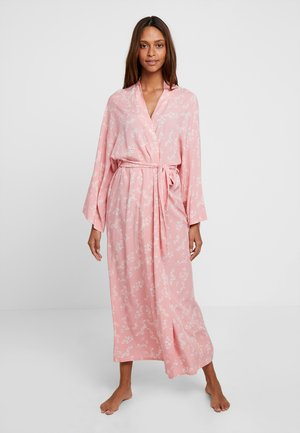 LISHA - LONG PRINTED ROBE  - Župan - PINK