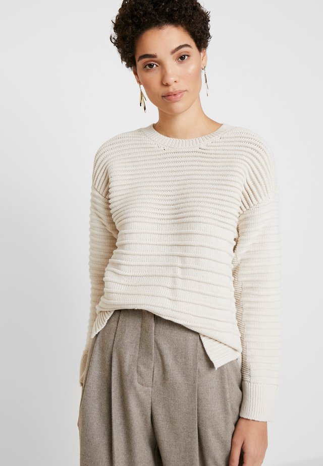 CREW NECK KNITWEAR - Jumper - ecru