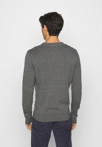 Pier One - 2 PACK  - Stickad tröja - dark blue/mottled dark grey - 3