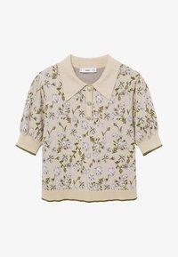 Mango - LILAS - Polo shirt - gris clair/pastel - 4