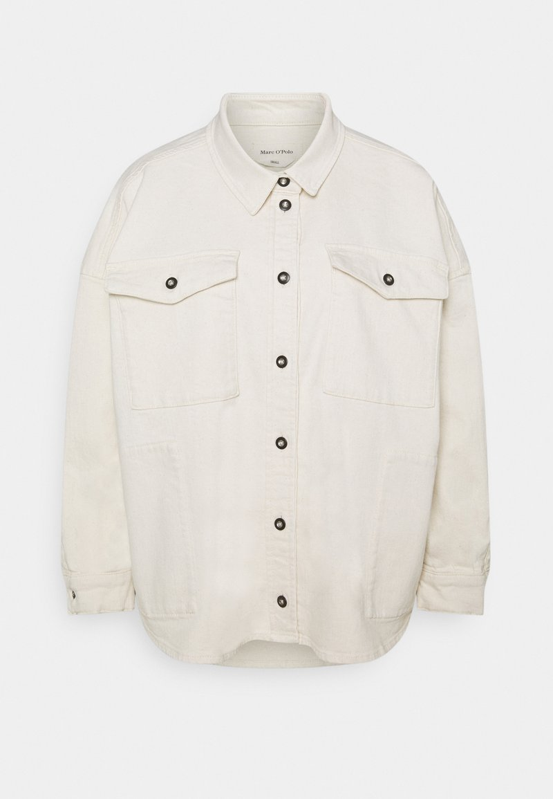 Marc O'Polo - SHIRT OVERSIZED FIT  - Button-down blouse - off-white