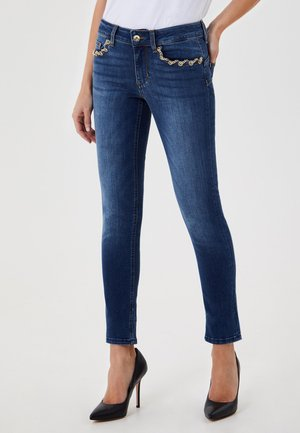 WITH JEWEL CHAINS - Jeans Skinny Fit - blue denim