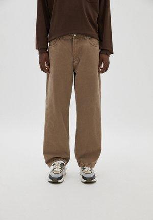 Džíny Straight Fit - mottled light brown