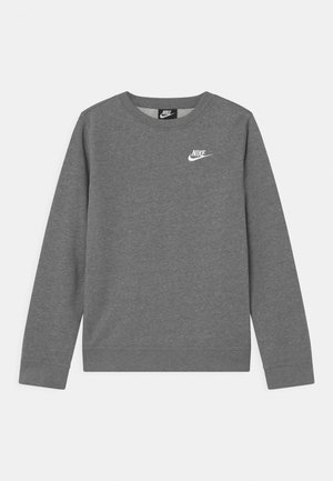 CREW CLUB - Sweatshirt - carbon heather/white