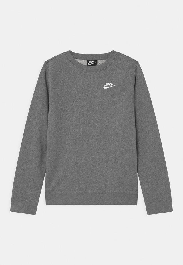 CREW CLUB - Sweatshirt - carbon heather/white