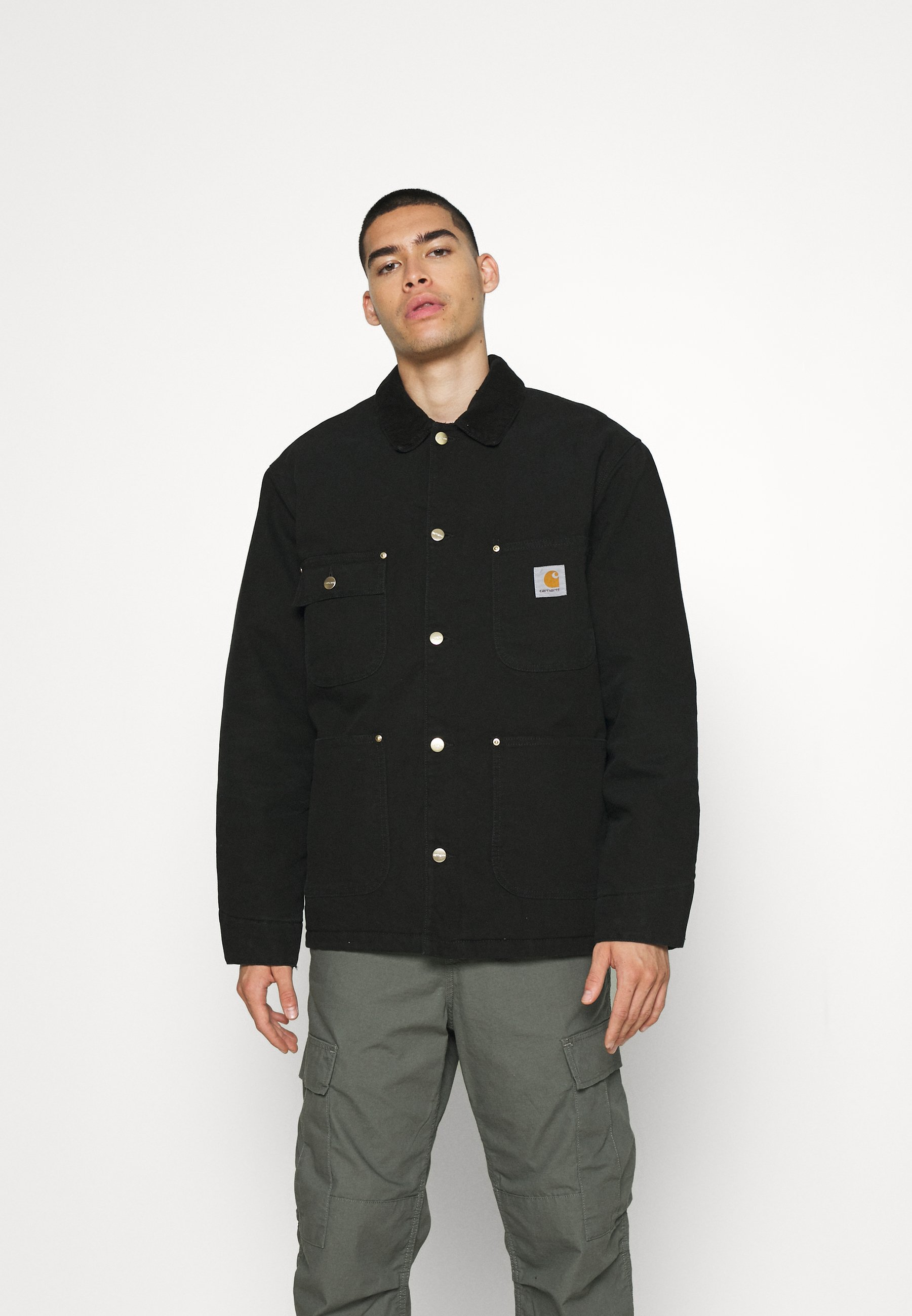 Men CHORE COAT DEARBORN - Light jacket - black