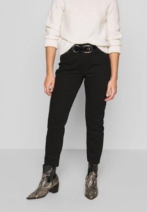 MOM ELDERBERRY - Straight leg jeans - coal