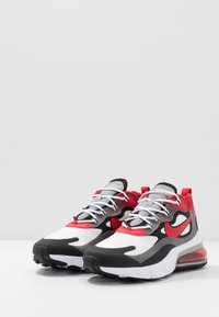 Nike Sportswear - AIR MAX  REACT - Sneakers - black/university red/white/iron grey/particle grey - 2