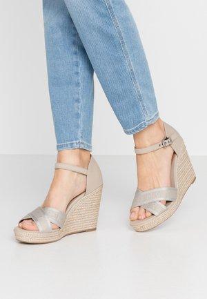 ELENA  - Højhælede sandaletter / Højhælede sandaler - stone