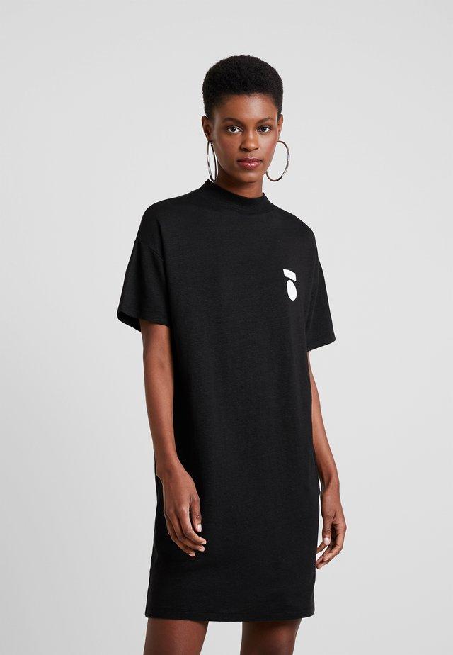 TURTLE NECK DRESS - Robe en jersey - black