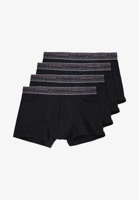 WE Fashion - WE FASHION HERREN-BOXERSHORTS, 4-ER-PACK - Panties - black - 0