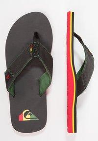 Quiksilver - MOLOKAI ABYSS - T-bar sandals - green/black - 1