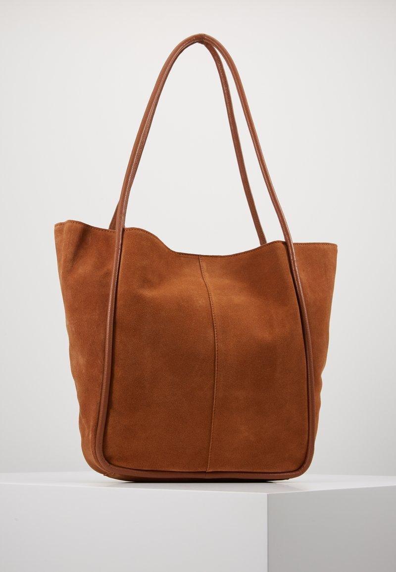 mint&berry - LEATHER - Tote bag - cognac