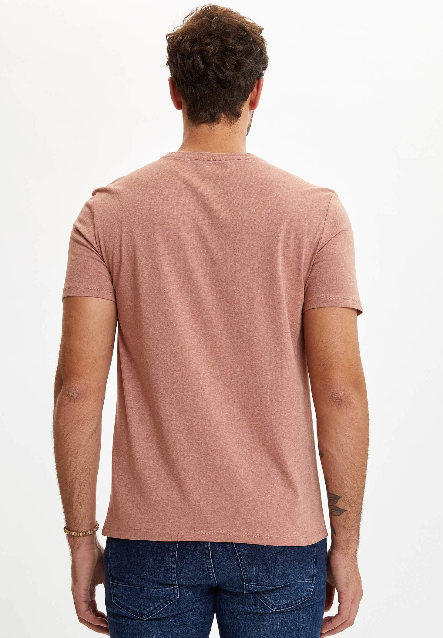 DeFacto Basic T-shirt - brown dOtRG