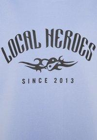 Local Heroes - TRIBAL HOODIE DRESS - Korte jurk - blue - 2